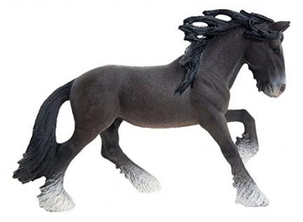 Schleich 13734 Farm World Shire Horse Hengst handbemalt detailgetreu