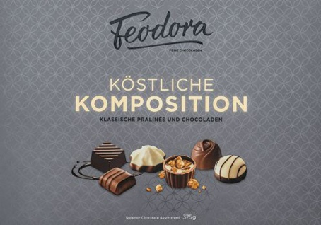 Feodora Köstliche Komposition vielfältige Klassische Pralinen 375g