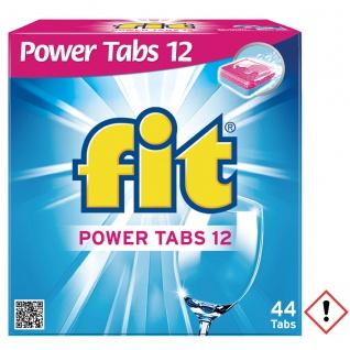 Fit Power Tabs 12 für perfekt saubere Spülergebnisse 44 Stück