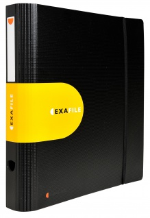 Ordner A4 Exactive schwarz PP 65 mm