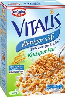 Dr Oetker Vitalis Müsli Knusper pur weniger süß weniger Zucker 1500g