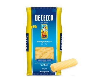De Cecco Tortiglioni Nr 23 Nudeln aus Hartweizengriess 500g 24er Pack
