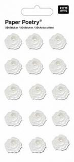 3D-Sticker Blumen mit Perle