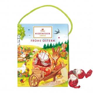 Niederegger Ostertasche 5 Marzipan Eiern aus Zartbitterschokolade 85g