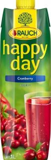Rauch Happy Day Cranberrykonzentrat Apfelkonzentrat 1000ml 4er Pack
