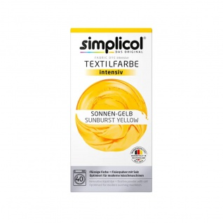 Simplicol flüssige intensiv Textilfarbe in warmen Sonnen Gelb