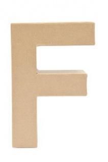 """Pappmache Buchstabe """" F"""" stehend zum basteln kreativ Rico Design Idee"""