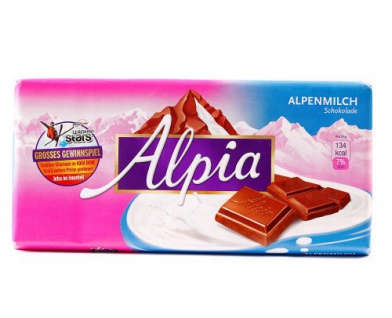Alpia Alpenvollmilch Tafelschokolade Alpenvollmilchschokolade 100g