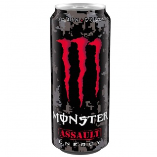 Monster Assault Erfrischungsgetränk mit Taurin Guarana 500ml 6er Pack