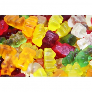 Fruchtgummi Bären ohne Zucker 5fach sortiert mit Stevia gesüßt 1000g