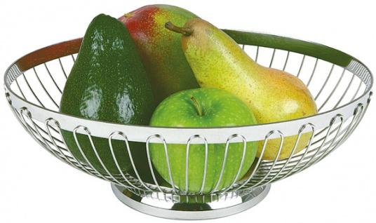Assheuer und Pott Brotkorb Obstkorb Oval aus Edelstahl 28x21cm