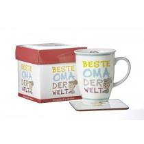 Ritzenhoff und Breker Kaffeebecher mit Geschenkebox Beste Oma