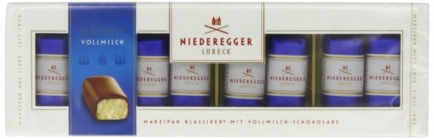 Niederegger Marzipan Klassiker Vollmilch Schokolade 100g 3er Pack