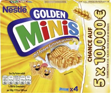 NESTLE GOLDEN MINIS Cerealien Riegel 4er Multipack (4x25g)