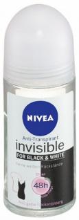Nivea Deodorant Roll On Invisible for Black und White Clear 50ml