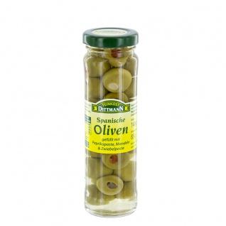 Feinkost Dittmann Spanische Oliven mit pikanter Füllung 140g