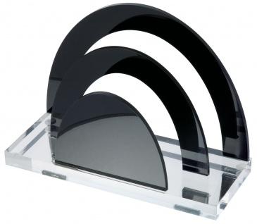 WEDO Acryl Briefständer Acryl Exklusiv 2 Fächer Glasklar Schwarz