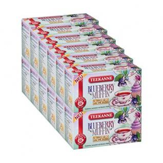 Teekanne Blueberry Muffin Einmalig und Süß Früchtetee 12er Pack