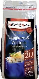 Müllers Mühle Langkorn und Wildreis herzhaft nussig würzig 2000g