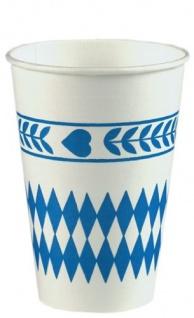 "14785 - PAPSTAR - 10 Trinkbecher, Pappe 0, 2 l "" Bayrisch Blau"""