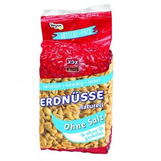 XOX Erdnüsse naturell trocken geröstet ohne Salz und ohne Öl 900g