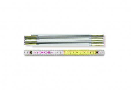 Gliedermaßstab Länge 2m Breite 16mm Teilung mm/cm EG III Buche weiß BMI