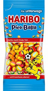Haribo Pico Balla Fruchtgummi mit doppelseitiger Konfektfüllung 65g