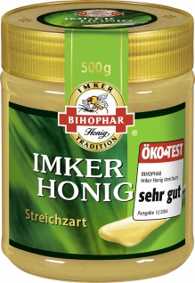 BIHOPHAR Imker Honig streichzart Blütenhonig zartcremig 500g