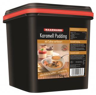 Naarmann Karamell Pudding mit Sahne verfeinert servierfertig 5000g