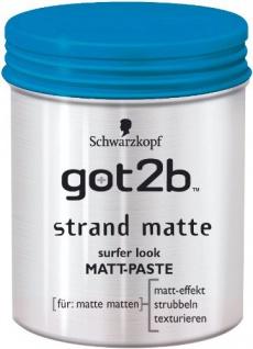 Schwarzkopf got2b Strand Matte Paste mittlerer Halt Stärke 3 100ml 2er Pack