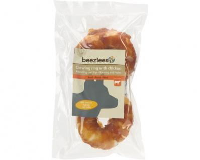 Tiernahrung Beeztees Rinderhaut Ring klein Snack für den Hund