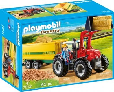 Playmobil Country Riesentraktor mit Anhänger Konstruktionsspiel 70131