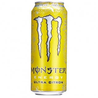 Monster Energy Ultra Zitrone Koffeinhaltiges Erfrischungsgetränk 500ml