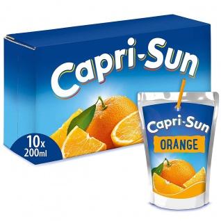 Capri Sun 10 Trinkpacks mit Orangensaft Erfrischungsgetränk 2000ml