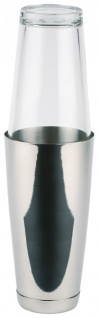 Assheuer und Pott Boston Shaker 2 teilig Edelstahlbecher schwarz 700ml