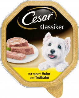 Cesar Nassfutter Klassiker Selektion mit Huhn und Truthahn 150g