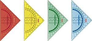 Geodreieck 16 cm m. Griff farbig sort.