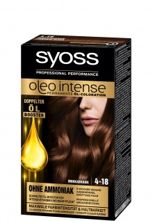 Schwarzkopf Syoss Oleo Intense 4 bis 18 Mokkabraun 115ml 3er Pack