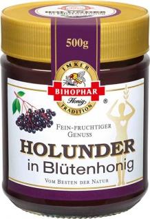 Bihophar Holunder in Blütenhonig fein fruchtiger Genuss 500g