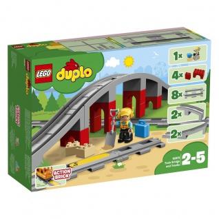 Lego duplo 10872 Eisenbahnbrücke und Schienen bietet viel Eisenbahnspaß