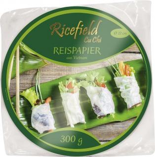 Reispapier rund für Frühlingsrollen und Teigtaschen Durchmesser 22cm