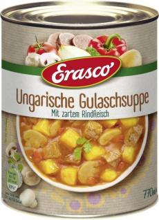 Erasco Ungarische Gulaschsuppe mit Rindfleisch 770ml 2er Pack