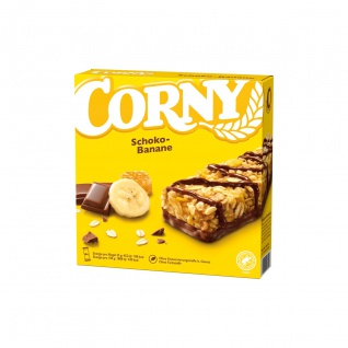 Corny Schoko Banane Müsliriegel mit Bananen und Milchschokolade 150g