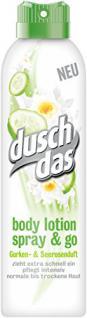 Duschdas Body Lotion Spray & Go Gurken- & Seerosenduft, 6er Pack (6 x 190 ml)