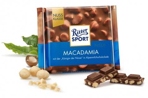 Ritter Sport Macadamia aus knackiger Alpenmilchschokolade 100g