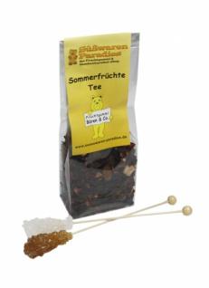 Sommerfrüchte Tee mit Kandiszucker Kirch Bananen Geschmack 100g
