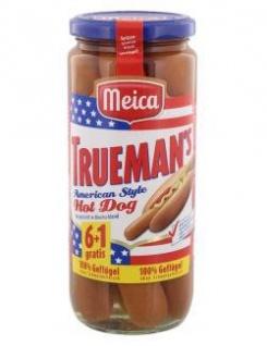 Meica Trueman`s Hot Dog Würstchen Chicken 100% Geflügel