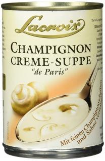 Lacroix Champignon Creme Suppe mit Sahne Verfeinert 400ml 3er Pack