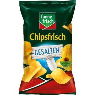 Funny frisch Chipsfrisch gesalzen Kartoffelgenuss mit Salz 175g
