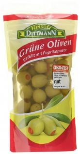 Feinkost Dittmann Oliven gefüllt mit Paprikapaste, 10er Pack (10 x 125 g)